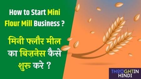 मिनी फ्लौर मील का बिज़नेस कैसे शुरू करे ? How to Start Mini Flour Mill Business ?